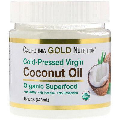 California Gold Nutrition, Органическое кокосовое масло 473мл