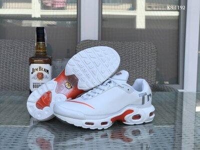 Топ Качество. Бесплатная доставка. Кроссовки Nike Air Max Tn бело-оранжевые KS 1192