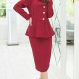 Женский костюм с юбкой и жакетом креп-костюмная ткань хит сезонаскл.1 арт. 58140