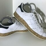 Женские кроссовки Adidas Stan Smith Адидас 38рр 23,5см идеал оригинал белые кожа