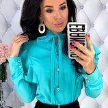 Женская нарядная блуза рубашка ткань супер-софт микс цветов хит сезона скл.1 арт.58118