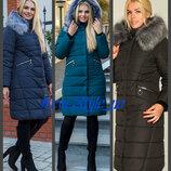44-58, Зимнее женское пальто. Зимове жіноче пальто, Женский пуховик. Тепла куртка довга