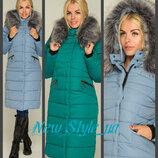 44-50, Зимнее женское пальто. Зимове жіноче пальто, Женский пуховик. Тепла куртка довга