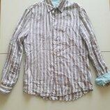 Рубашка Esprit Италия лен Новая коллекция Будьте стильными