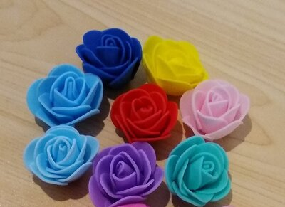 Розы 3 - 4.5 см из фоамирана цветы для рукоделия