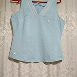 Adidas голубая майка
