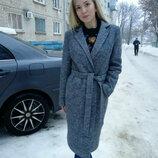 Крутое шерстяное утеплённое пальто