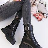 Женские кожаные деми ботинки