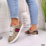 Женские кеды Gucci бренд, кожаные