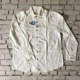 Мужская белоснежная рубашка хлопковая белая
