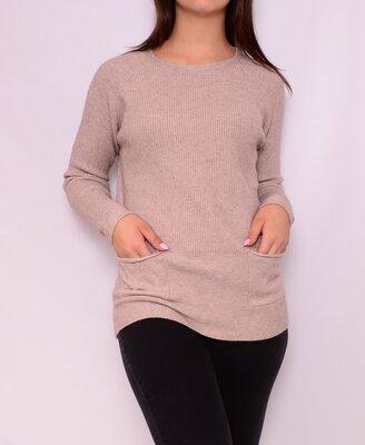 Удлиненные свитера с карманами. Польша