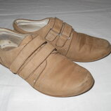 Туфли для девочки закрытые, р. 34, нубук