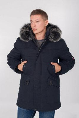 Зимняя тёплая куртка парка мужская