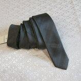 Галстук серый primark шелковый