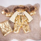 Мега модный и теплый детский зимний комбинезон 3-ка