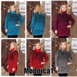 Свитер женский вязаный свитер с горловиной разные расцветки