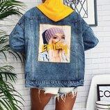 Джинсовая курточка джинсовка с капюшоном разные