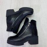 Натуральные кожаные женские деми ботинки 36,37,38,39,40,41