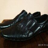 туфли кожаные kangfu р.32-21см.по стельке