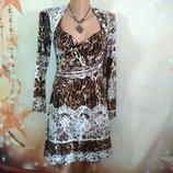 Трикотажное красивое платье 44р