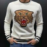 Стильный мужской свитшот,аналог Gucci s-m-l-xl