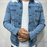 Стильная мужская джинсовка пиджак S, M, L, XL