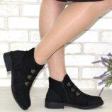 Чёрные осенние ботинки на низком каблуке 36-40р отправляю наложкой