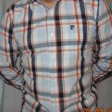 Брендовая стильная нарядная рубашка сорочка .Pierre Cardin.л.