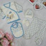 Подарочный наборчик из 5 предметов для новорожденного
