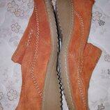 Туфли мокасины натур. замша стильные comfino 39 размер