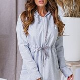 Женская куртка парка пальто ветровка ткань турецкая двунитка скл.1 арт.57898