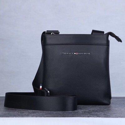Стильная мужская кожанная сумка Tommy Hilfiger
