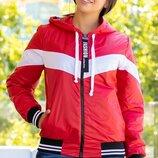 Женская спортивная куртка плащевка на подкладке синтепон три цвета скл.1 арт.57763