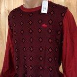 Шикарный свитер Lacoste ,размер M-XL.