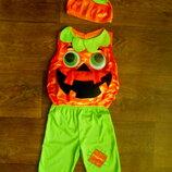 костюм Тыква 9-12 мес M&S с подсветкой Хэллоуин Halloween