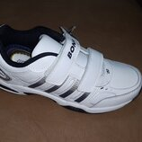 Кожаные кроссовки Bona 36-41 р., бона, кросовки, кросівки, шкіра, хаки, липучках, белые, мальчика