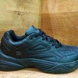 Мужские кожаные кроссовки restime в стиле nike tekno Р. 41-45