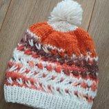 Чудесная вязанная шапуля для малыша 0-6 мес, можно дольше, смотрите замеры.