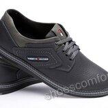 Мужские кожаные туфли Tommy Hilfiger Sheriff черные с серым