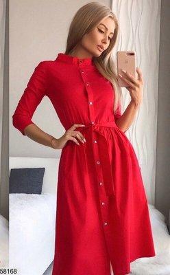 Женское нарядное каттоновое платье три цвета хаки красный марсал скл.1 арт. 58168