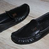 Туфли мокасины черные стильные 31й