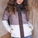 Теплая женская куртка плащевка на синтепоне все размеры скл.1 арт. 57590