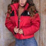 Женская теплая короткая куртка плащевка на синтепоне три цвета скл.1 арт. 57587