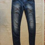 Отличные сине-серые узкие джинсы - бедровки G-Star Raw Голландия 29/34 реально 34/36 р.