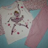 Пижама котоновая с принтом Балерина р-86/92 в хорошем состоянии