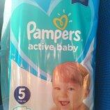 Pampers active baby подгузники памперси