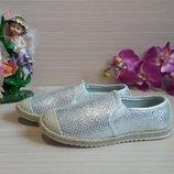 Мокасины-Эспадрильи текстильные для девочки 31-36р