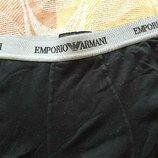 Трусы шорты фирменные чёрные Emporio Armani р.46-48 M
