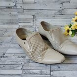Туфли Giorgio Vasari мужские бежевые сетка