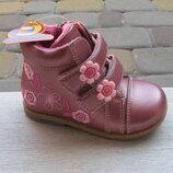 18-22 Skazka Сказка новые ортопедические деми ботинки ботиночки девочке 8мес-2 года липучки